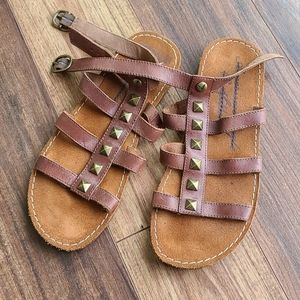 American Eagle Studded Leather Sandals